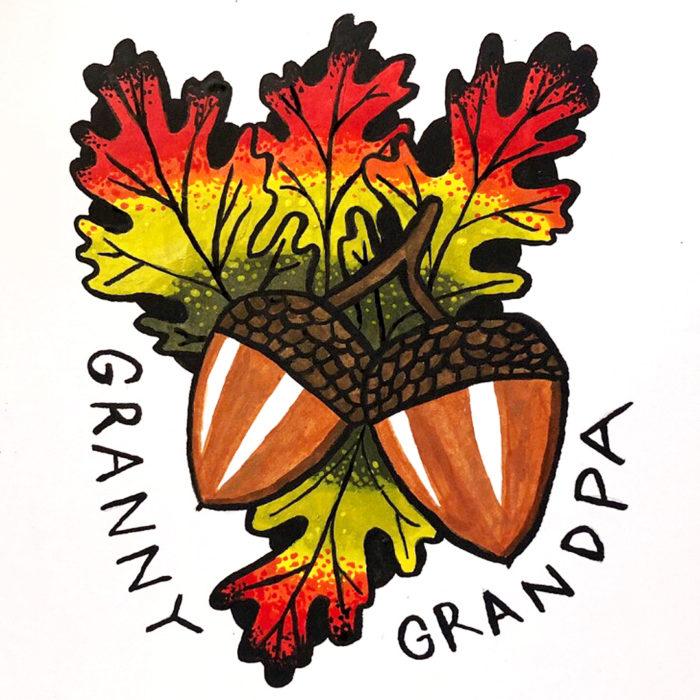 Gather Illustration Pete Reynolds Tattoo Study Granny Grandpa