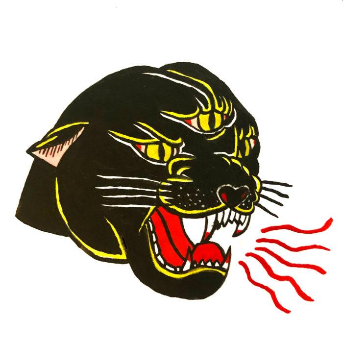 Gather Illustration Pete Reynolds Tattoo Study Panther