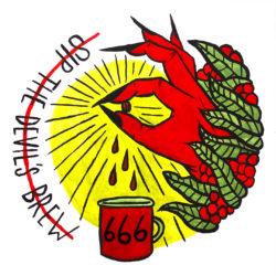 Gather Illustration Pete Reynolds Tattoo Study Sip the Devil's Brew