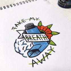 Gather Illustration Pete Reynolds Tattoo Study Take my Breath Away